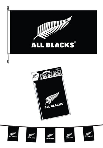 All Blacks Bunting and All Blacks Premium PolyKnit  Flag Bundle  SAVE $20.00