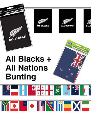 All Blacks and All Nations Bunting Bundle. SAVE $5.00!