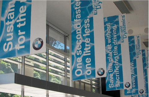 Showroom Hanging Banners