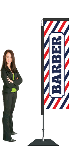Barber Display and Flag. SAVE $50.00!   Priced from: