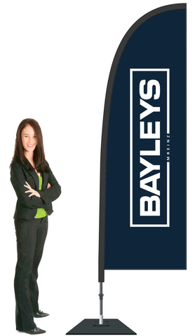 Bayleys Durapole Flex Single Sided Flag Display.