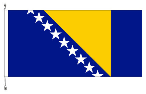 Boznia Herzegovina Flag - Premium (with exclusive Swivel Clips).