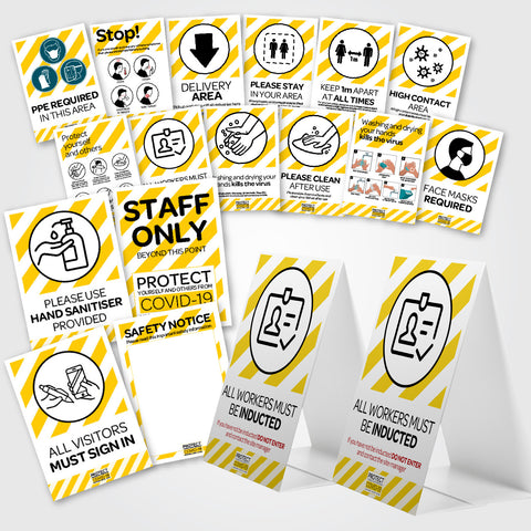 COVID-19 WORKSITE SIGNAGE PACKS