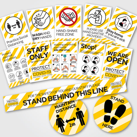 COVID-19 ESSENTIAL SIGNAGE PACKS
