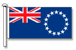 Cook Islands Flag - Premium (with exclusive Swivel Clips).