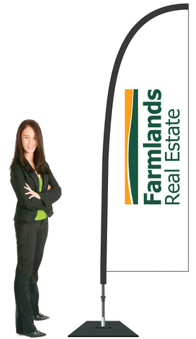 Farmlands Durapole Flex Single Sided Flag Display.