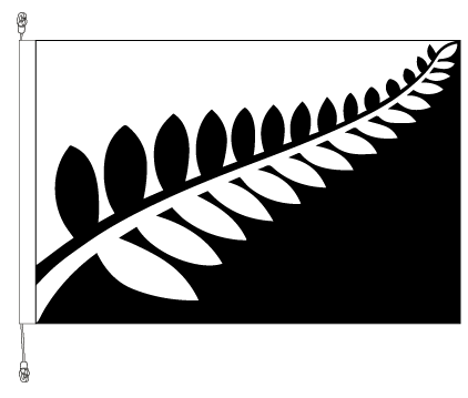 Fern flag.  By Alofi Canter - Premium  SAVE $50.00!!  Free Shipping in NZ!*