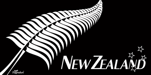 Flagmakers Silver Fern Flag - Premium (with exclusive Swivel clips).  Free Shipping in NZ!