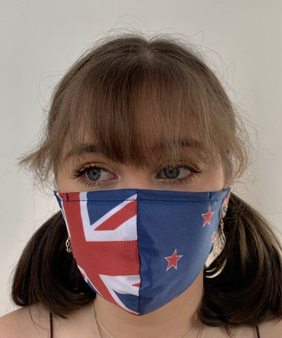 FACE MASKS WITH HELIX™ FILTER -NZ FLAG DESIGN ADULT AND YOUTH SIZES ONLY. PRICED FROM: