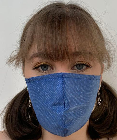 FACE MASKS WITH HELIX™ FILTER -SMART DENIM DESIGN ADULT AND CHILD SIZES. PRICED FROM: