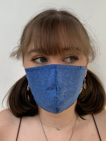FACE MASKS WITH HELIX™ FILTER - DENIM DESIGN.  ADULT AND YOUTH SIZES. PRICED FROM: