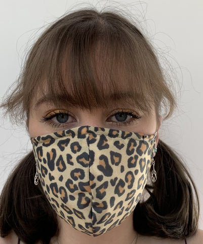 FACE MASKS WITH HELIX™ FILTER - LEOPARD SKIN DESIGN ADULT AND CHILD SIZES. PRICED FROM: