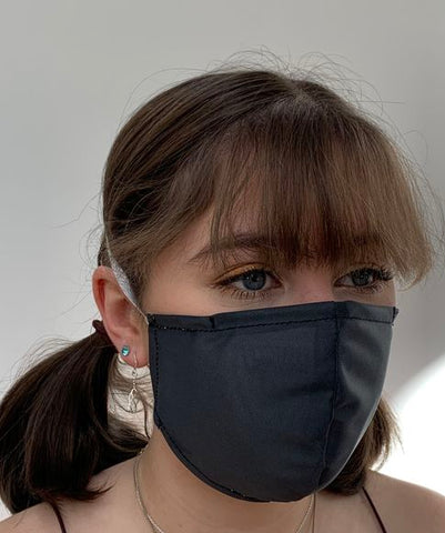 FACE MASKS WITH HELIX™ FILTER -SMART BLACK DESIGN ADULT AND CHILD SIZES. PRICED FROM: