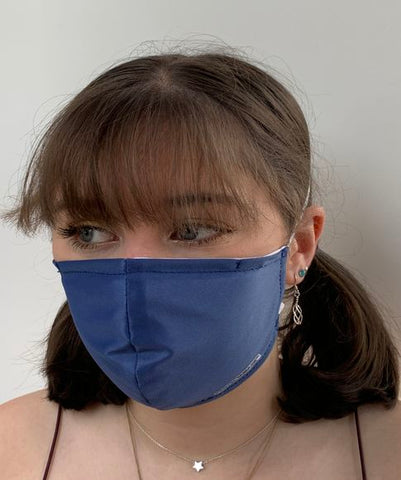 FACE MASKS WITH HELIX™ FILTER -SMART BLUE DESIGN ADULT AND CHILD SIZES. PRICED FROM: