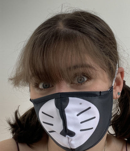 FACE MASKS WITH HELIX™ FILTER - CHEEKY CAT DESIGN ADULT AND YOUTH SIZES. PRICED FROM: