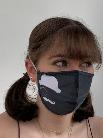 FACE MASKS WITH HELIX™ FILTER - MONOCLE DESIGN ADULT AND CHILD SIZES. PRICED FROM: