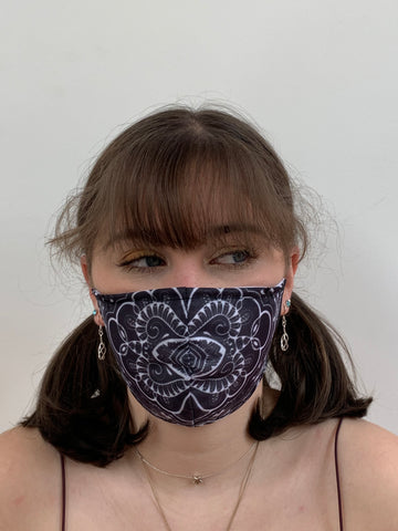 FACE MASKS WITH HELIX™ FILTER - HIPSTER SWIRL DESIGN ADULT AND YOUTH SIZES. PRICED FROM: