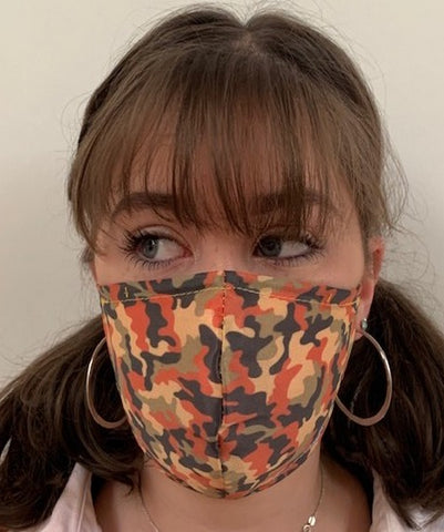 FACE MASKS WITH HELIX™ FILTER -DESERT CAMO DESIGN ADULT AND CHILD SIZES. PRICED FROM: