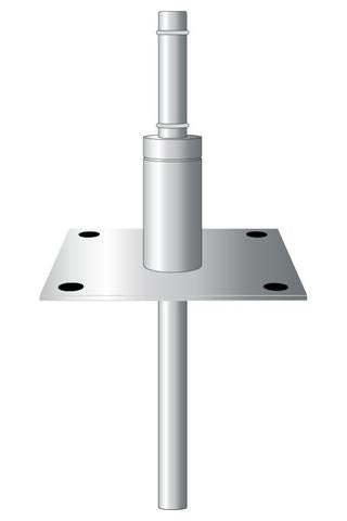 Inground Mount for Durapole Flex, Stainless Steel with removable spigot