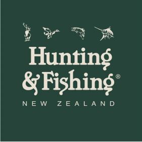 Hunting & Fishing Sticker - Large.  Pk of 100.   Size: 300mm x 300mm