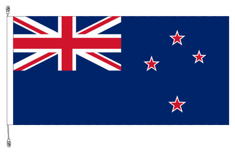 New Zealand Flag 1.8m x 0.9m Polyknit Flag - Premium Long Life with exclusive Swivel Clips to prevent flag rolling and wear. Free Shipping.