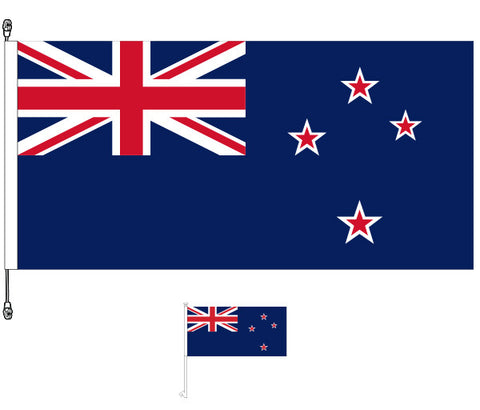 New Zealand Flag, Premium - Get a Free NZ Car Flag Worth $11.95!. SPECIAL OFFER!