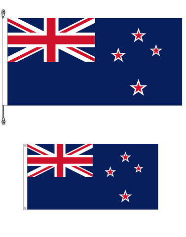 New Zealand Standard Flag and New Zealand Supporters Flag Bundle. SAVE $10.00!