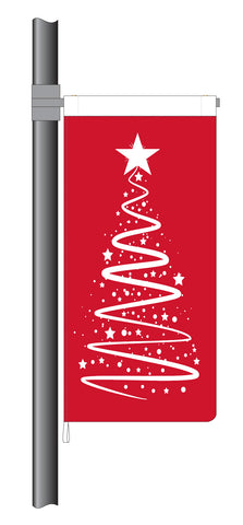 Red Christmas Ribbon Tree Flag (Code: RT9)
