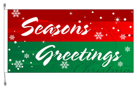 Seasons Greeting Flag