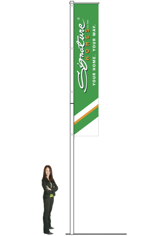 Signature Homes Swing Arm Flagpole. Does not include flag.