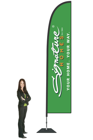 Signature Homes Durapole Flex Single Sided Flag Display - Large 3.5m. Minimum Order Quantity of 20