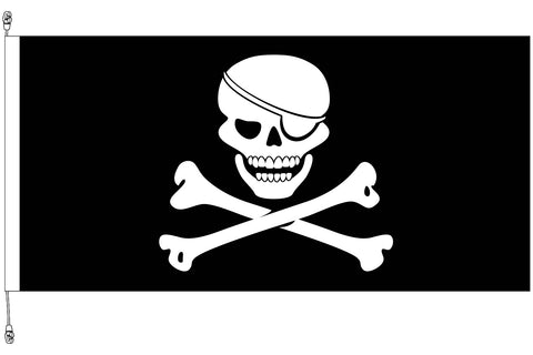 Skull & Cross Bones Horizontal Flag 1800x900mm