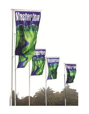 Swing Arm Flagpoles.