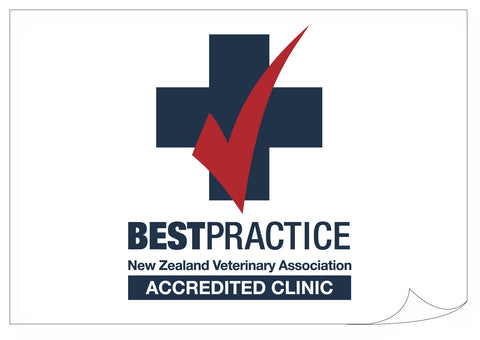 Vets Association Best Practice Sticker - Clinic.  $1.99 each.
