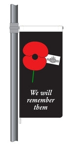 ANZAC We will Remember Them StreetFlag. RSA Member Special