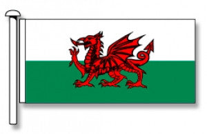 Wales Flag (Welsh Dragon) - Premium (with exclusive Swivel Clips). Free Shipping in NZ!*