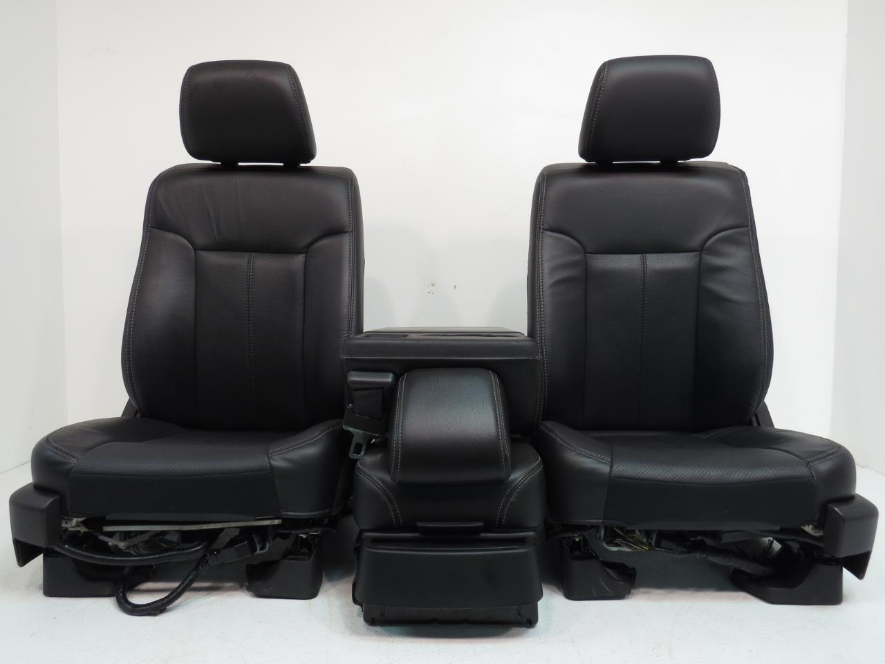 Astounding Ford F150 F 150 Black Leather Front Seats Rear Seat And Jump Seat Leather Seats Console Crew Cab 2009 2010 2011 2012 2013 2014 Spiritservingveterans Wood Chair Design Ideas Spiritservingveteransorg