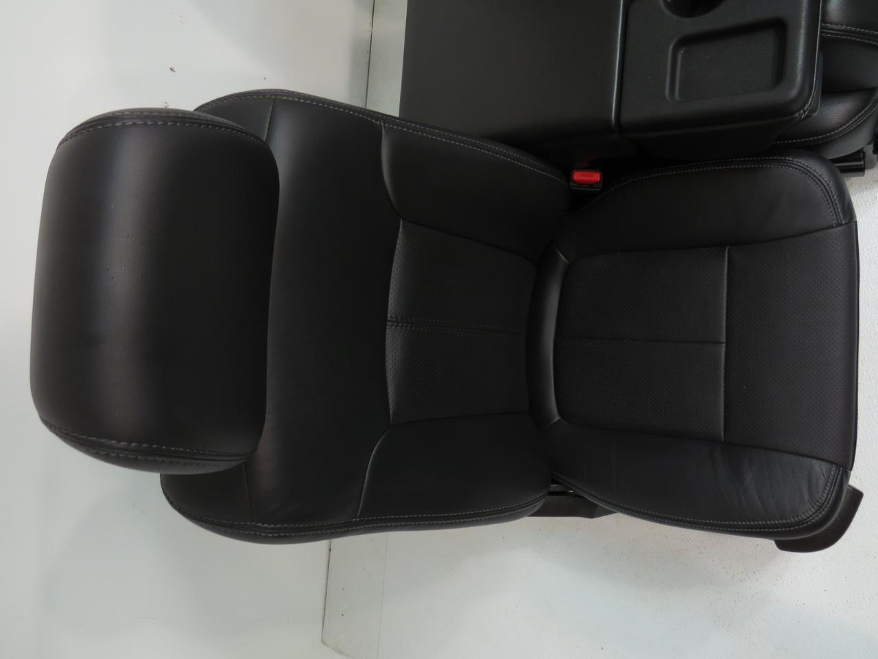 Chevy Silverado Replacement Seats >> Replacement Ford F150 F-150 Black Leather Front Seats, Rear Seat, and Jump Seat Leather Seats ...