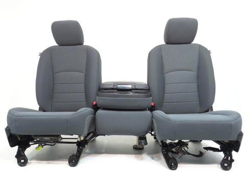Dodge Ram 1500 2500 3500 Cloth Front Seats & Console Center Jump Seat 40/20/40 Bench 2009 2010 2011 2012 2013 2014 2015 2016 2017 2018