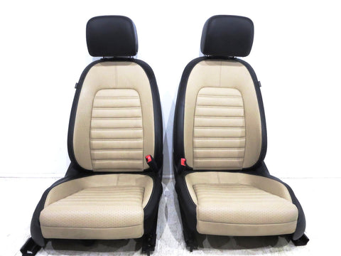 Vw Volkswagen Cc Two-tone V-tex Leatherette Seats 2008 2009 2010 2011 2012 2013 2014 2015