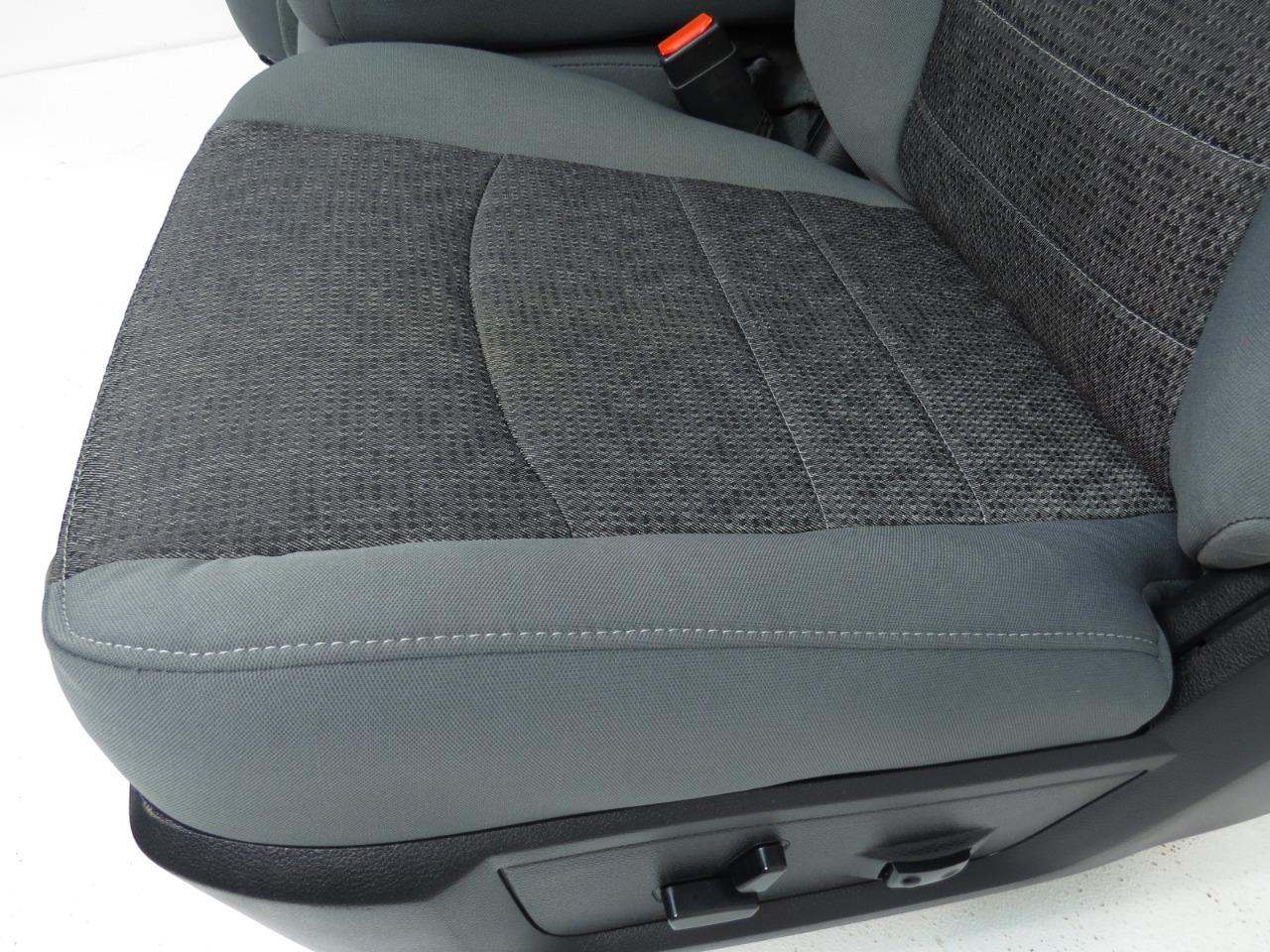 Replacement Dodge Ram Powered Cloth Front Split Bench Seat 2009 2010 2011 2012 2013 2014 2015
