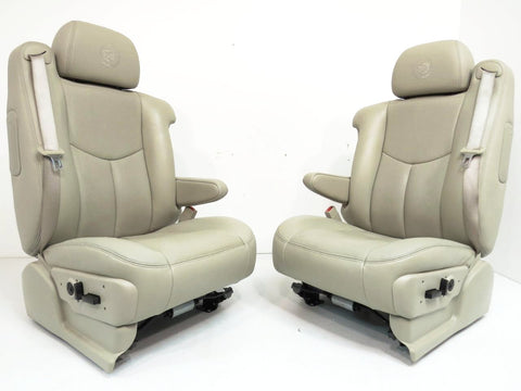 Escalade Platinum Leather Seats Esv Ext Suburban Tahoe Silverado Heated Cooled ' GM 2003 2004 2005 2006