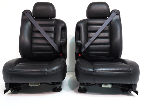 Hummer H2 Seats Black Leather 2003 2004 2005 2006 2007 GM '
