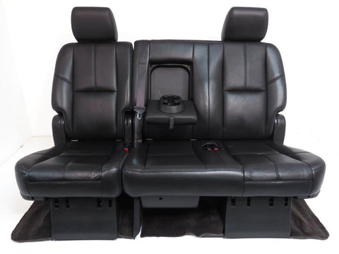 Chevy Suburban GM Yukon XL Rear 60/40 Black Leather Rear Bench Seat 2007 2008 2009 2010 2011 2012 2013 2014