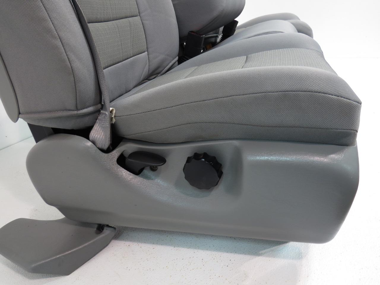 f1f67c3b6a ... Ford Super Extended Cab Grey Cloth Front Seats 1999 2000 2001 2002 2003  2004 2005 2006 ...