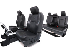 Dodge Ram Mega Cab Seats Black Leather Front & Rear Seats, Console 2009 2010 2011 2012