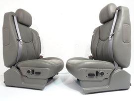Chevy GMC Silverado Sierra Tahoe Yukon Suburban OEM Leather Seats Pewter Grey 2000 2001 2002 2003 2004 2005 2006 '