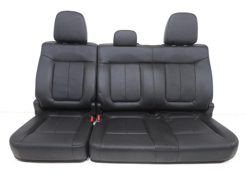Ford F150 F-150 Rear Seat Black Leather Crew Cab 2009 2010 2011 2012 2013 2014