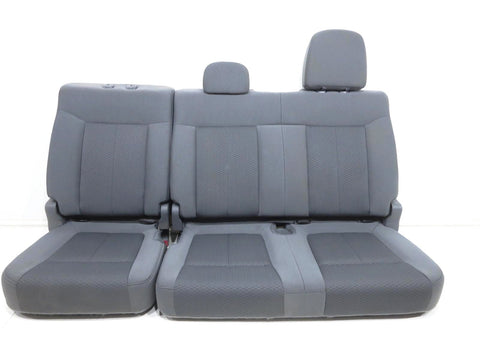 Ford F150 Oem Grey Cloth Rear Seat Crew Cab 4dr 2009 2010 2011 2012 2013 2014