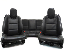 Chevy Camaro Seats Black Leather Power Buckets Front & Coupe Rear 2010 2011 2012 2015